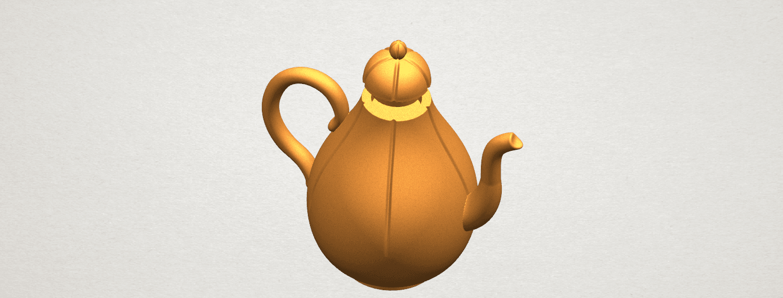 TDA0323 Tea Pot (ii) A05.png Download free STL file Tea Pot 02 • 3D printer template, GeorgesNikkei