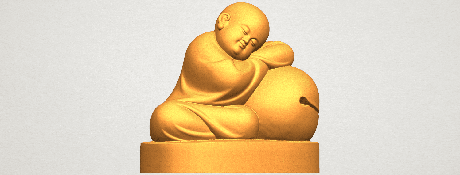 TDA0346 Little Monk A04.png Download free STL file Little Monk 02 • Design to 3D print, GeorgesNikkei