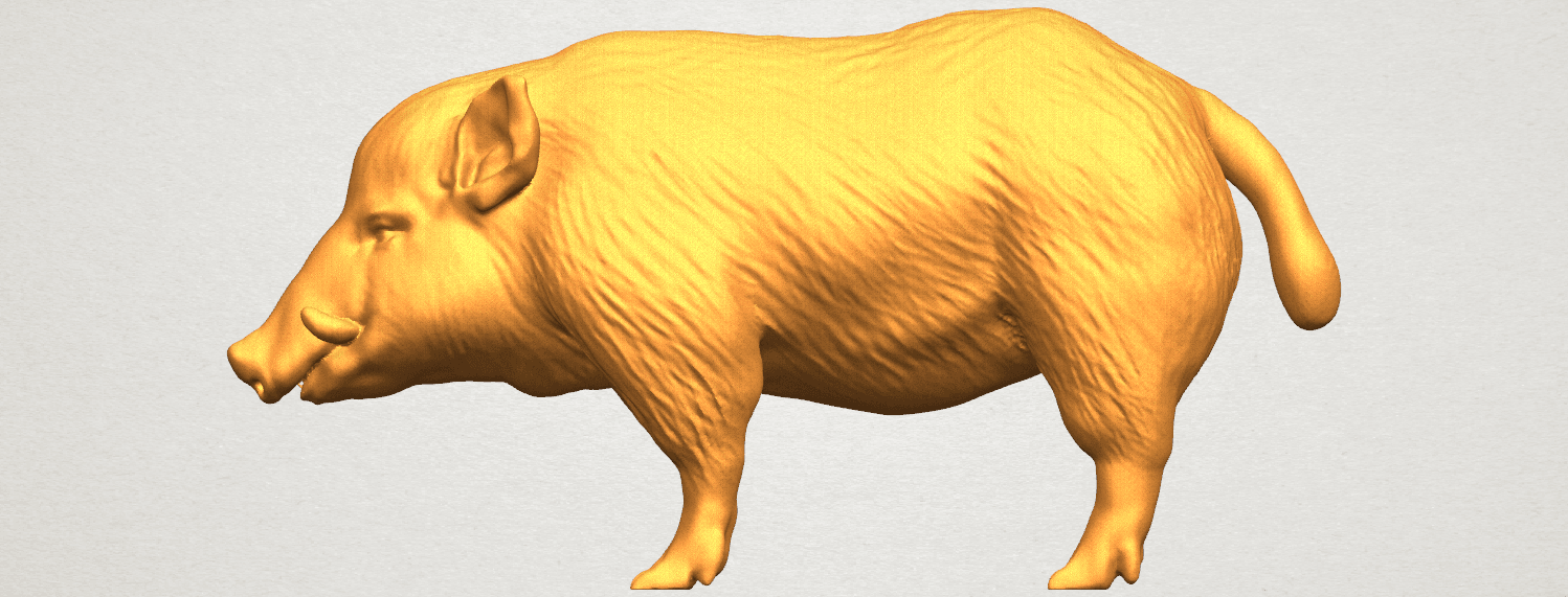 TDA0320 Pig (ii) A01.png Download free STL file Pig 02 • 3D printable object, GeorgesNikkei
