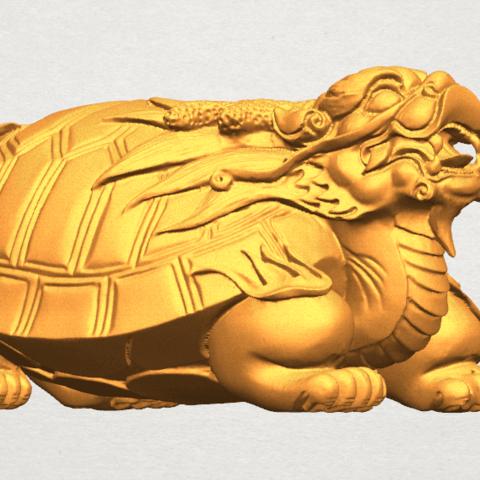 TDA0333 Dragon  Tortoise A05.png Download free STL file Dragon  Tortoise • Model to 3D print, GeorgesNikkei