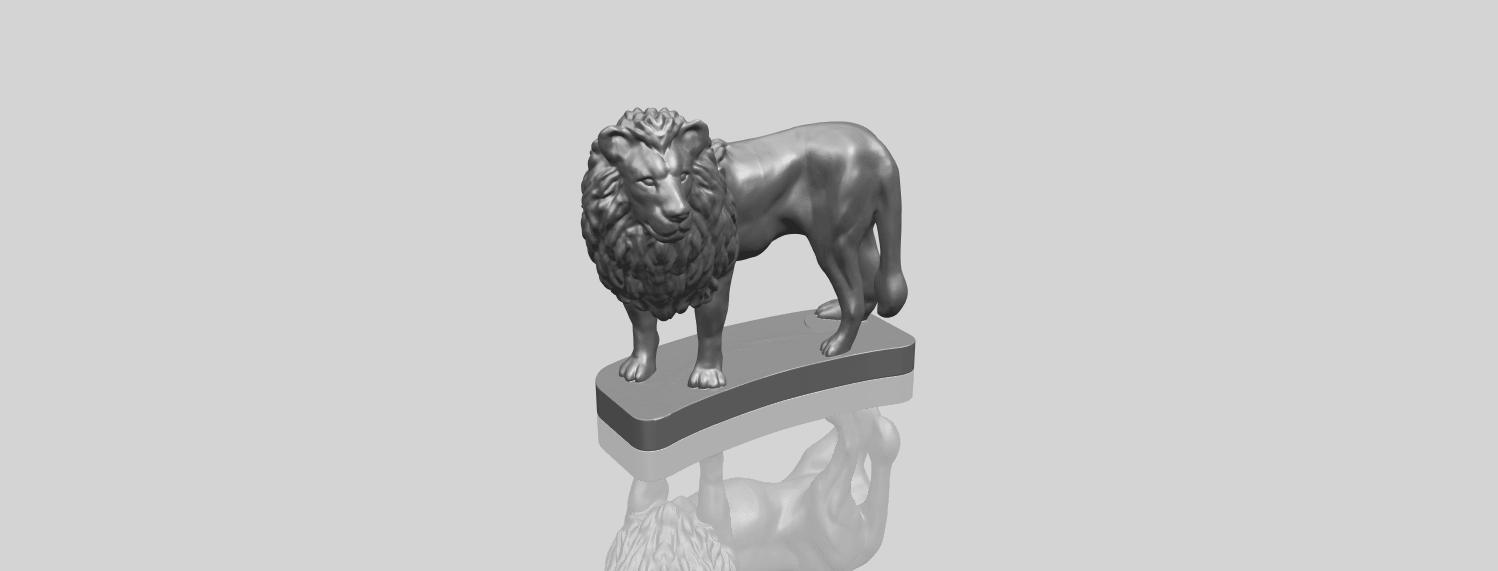 02_TDA0313_Lion_(iii)A00-1.png Download free STL file Lion 03 • 3D printable template, GeorgesNikkei