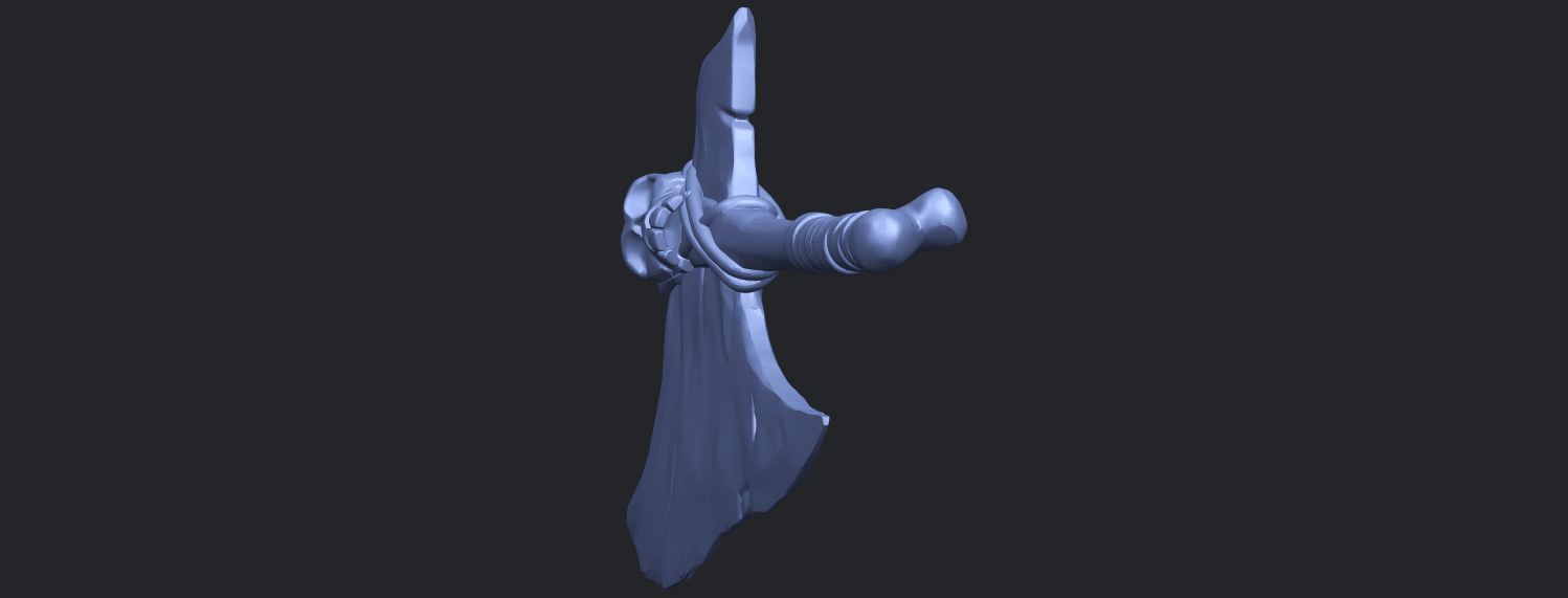 30_TDA0541_Pirate_AxeB03.png Download free STL file Pirate Axe • 3D printer template, GeorgesNikkei