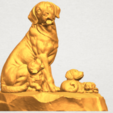 A08.png Download free STL file Dog and Puppy 02 • 3D print design, GeorgesNikkei