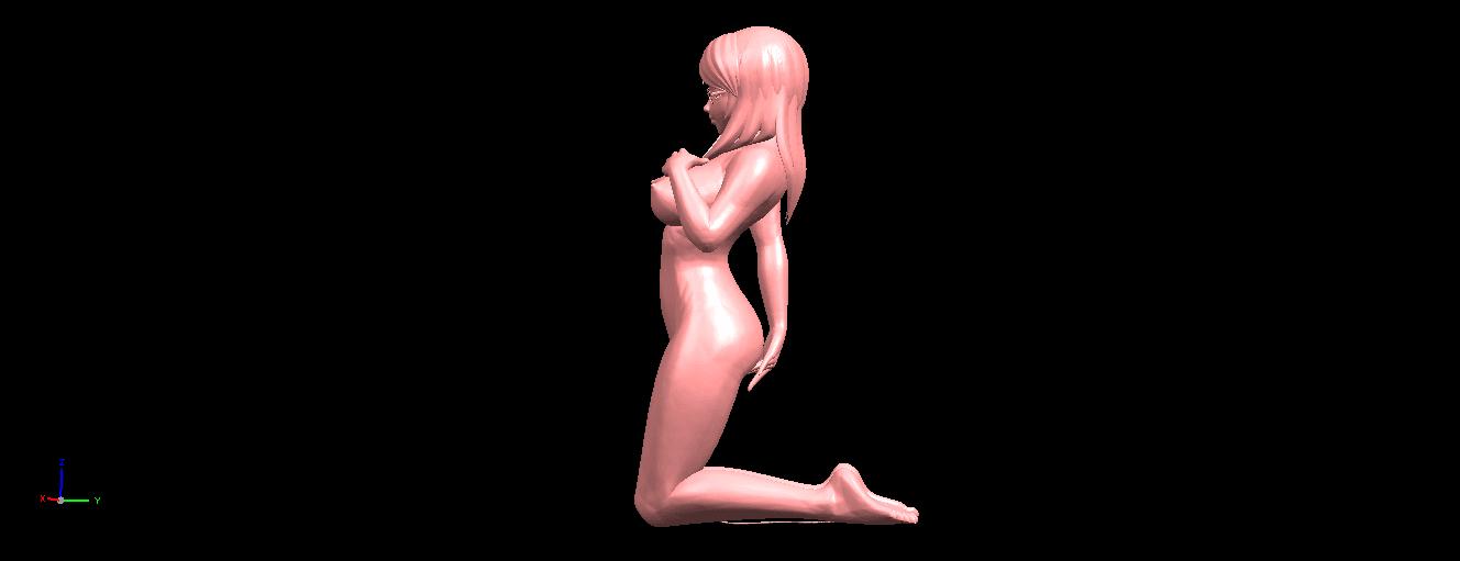 04.png Download free STL file Naked Girl - Bended Knees 01 • 3D printable model, GeorgesNikkei