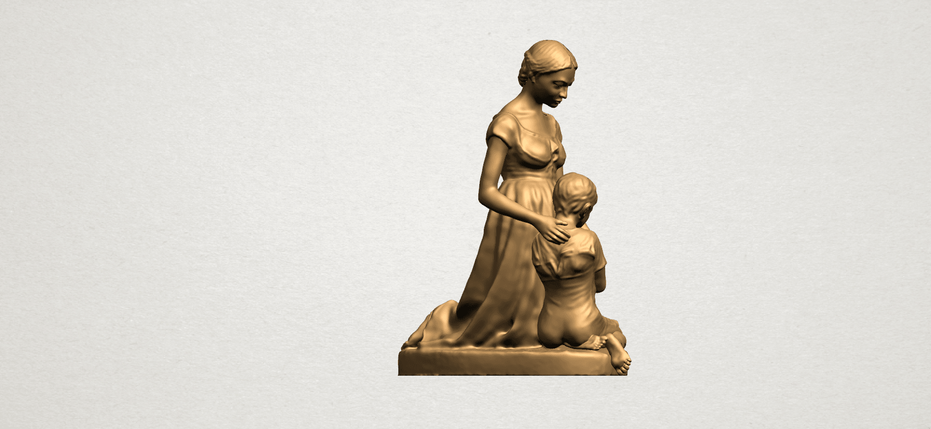 Mother-Child (ii) A06.png Download free STL file Mother and Child 02 • 3D printable design, GeorgesNikkei