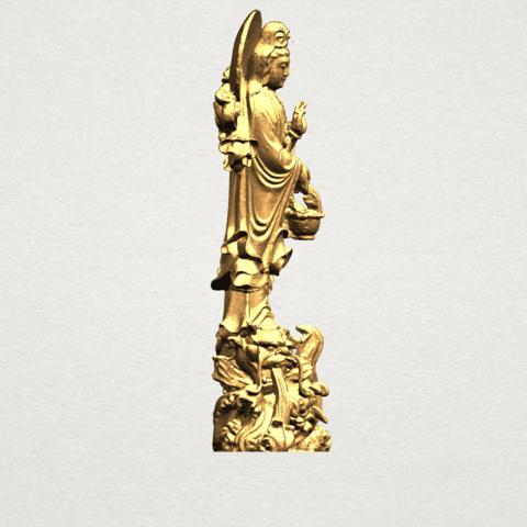 Avalokitesvara Buddha  (with fish) (ii) A07.png Download free STL file Avalokitesvara Bodhisattva (with fish) 02 • 3D printer template, GeorgesNikkei