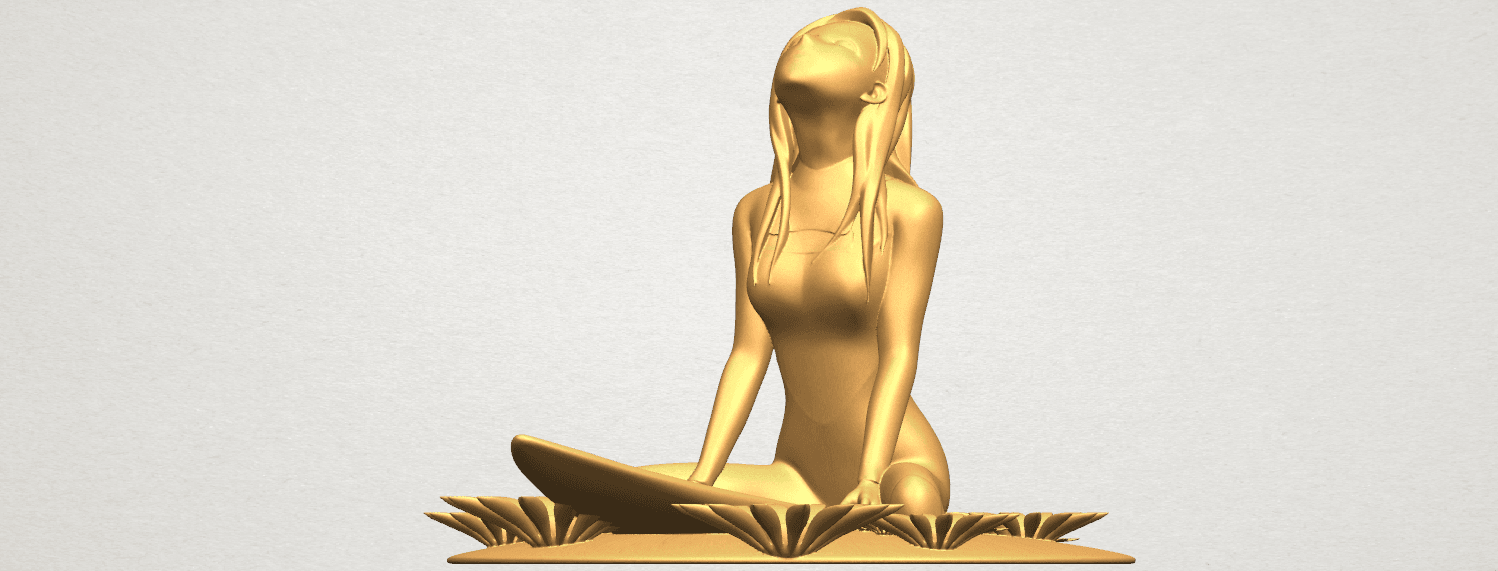 TDA0589 Girl surfing board 01 A02.png Download free STL file Girl surfing board 01 • 3D printing object, GeorgesNikkei