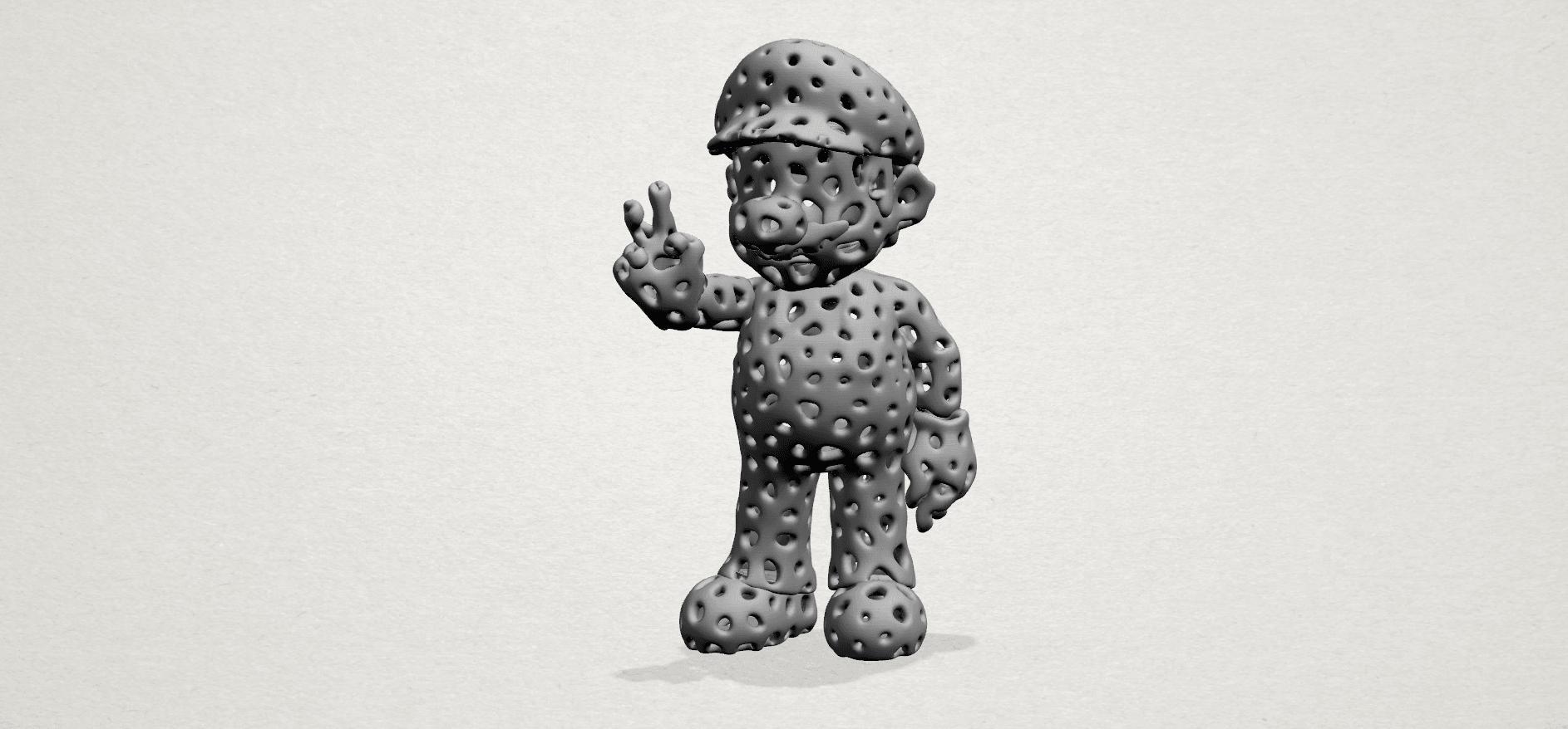 Mario-A01.png Download free STL file Voronoi Mario • Model to 3D print, GeorgesNikkei