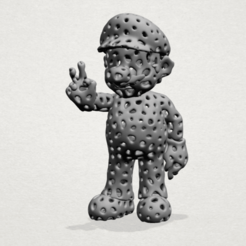 Download free 3D printing templates Voronoi Mario, GeorgesNikkei