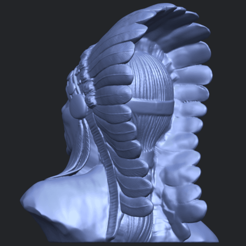 09_TDA0489_Red_Indian_03_BustB05.png Download free STL file Red Indian 03 • 3D printer model, GeorgesNikkei