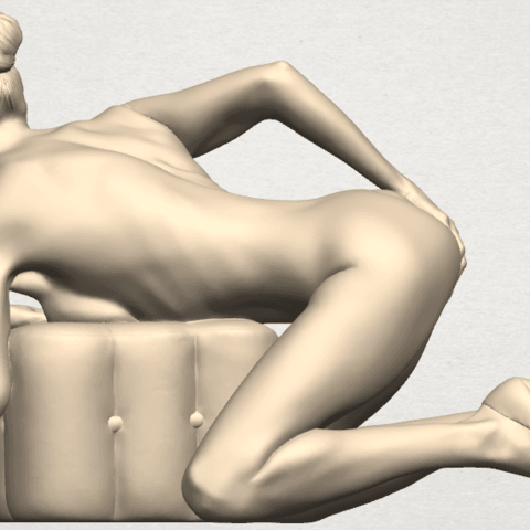 TDA0284 Naked Girl B01 05.png Télécharger fichier STL gratuit Fille nue B01 • Design à imprimer en 3D, GeorgesNikkei