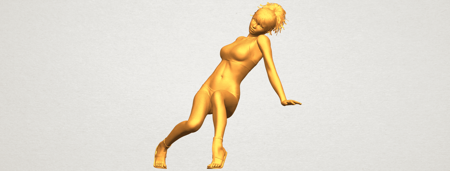 A02.png Download free STL file Naked Girl G03 • 3D print object, GeorgesNikkei