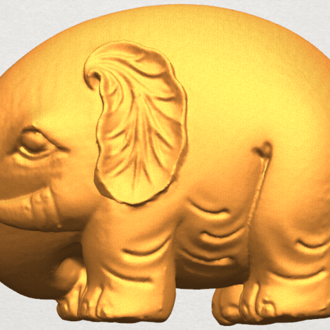 Download free STL file Elephant 04 • Design to 3D print, GeorgesNikkei