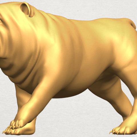 TDA0520 Bull Dog 01 A02.png Télécharger fichier STL gratuit Chien de taureau 01 • Plan pour impression 3D, GeorgesNikkei