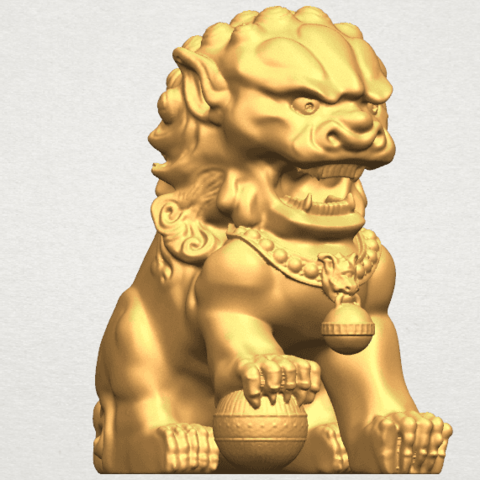 TDA0500 Chinese Lion A07.png Download free STL file Chinese Lion • 3D printing object, GeorgesNikkei