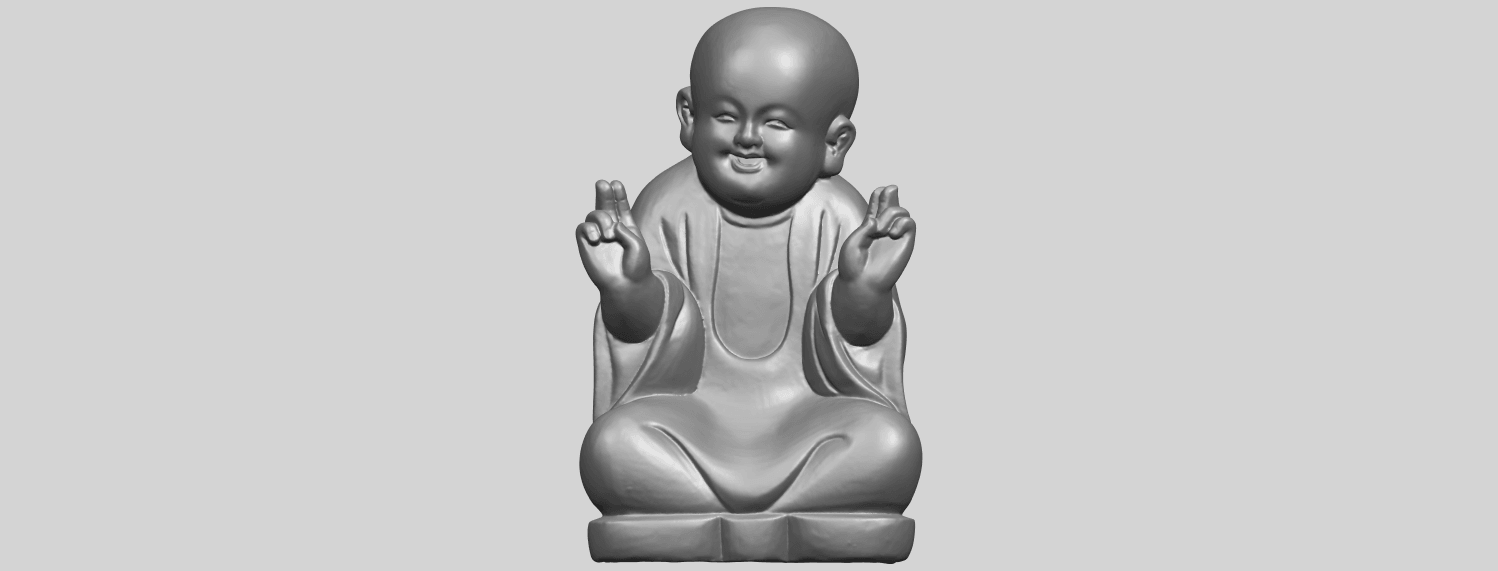 TDA0732_Little_Monk_05A01.png Download free STL file Little Monk 05 • 3D printing template, GeorgesNikkei