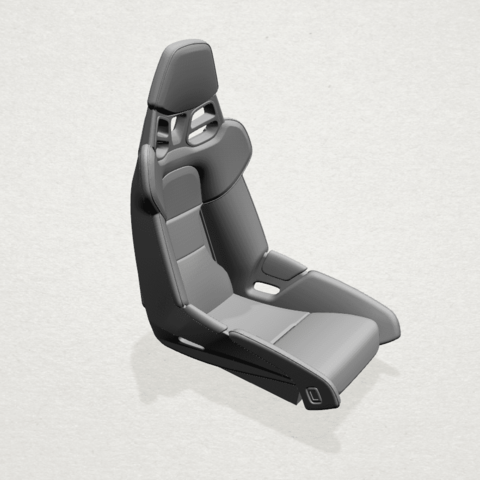 Seat -A04.png Download free STL file Car Seat • 3D printing design, GeorgesNikkei