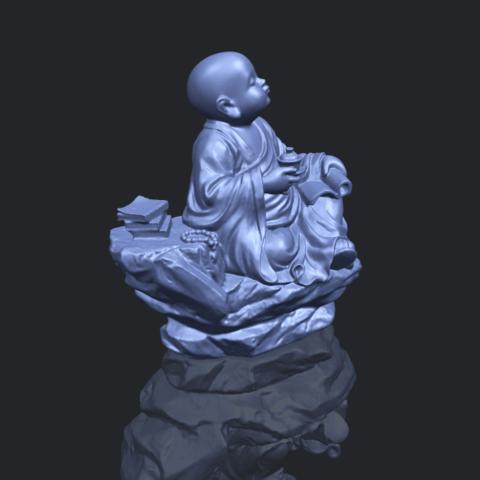 17_TDA0558_Little_Monk_Drink_TeaB00-1.png Télécharger fichier STL gratuit Boire du thé Little Monk Drink Tea • Design à imprimer en 3D, GeorgesNikkei