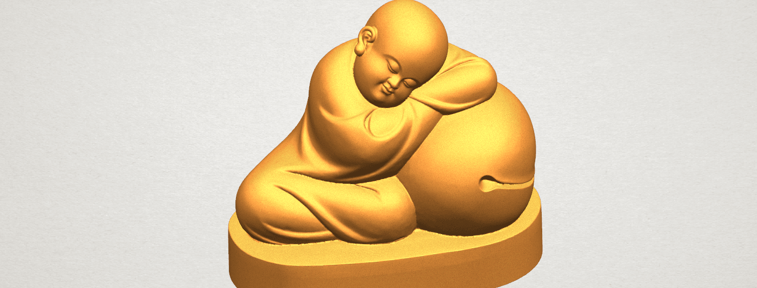 TDA0346 Little Monk A05.png Download free STL file Little Monk 02 • Design to 3D print, GeorgesNikkei