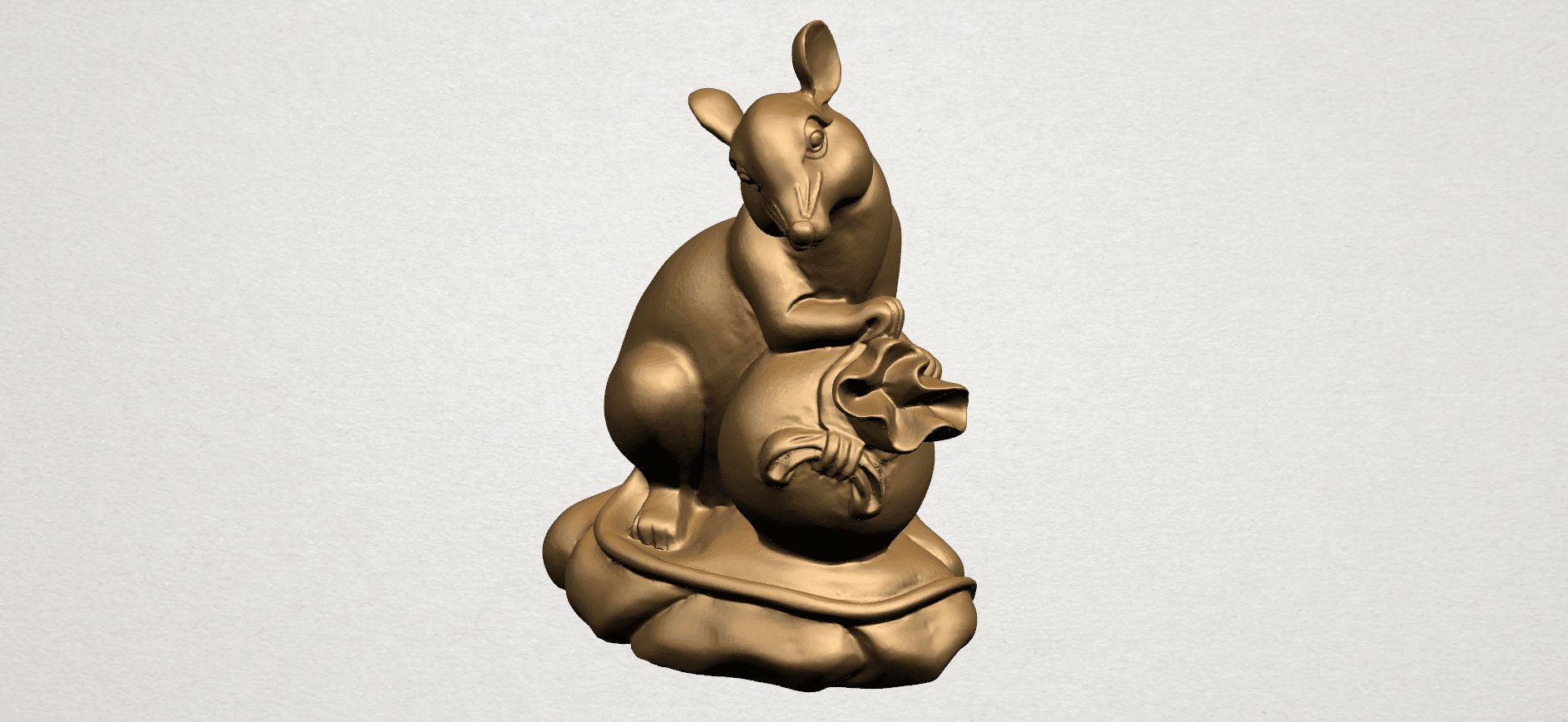 Chinese Horoscope01-A05.png Download free STL file Chinese Horoscope 01 Rat • 3D printing object, GeorgesNikkei