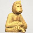 TDA0606 Chimpanzee A07.png Télécharger fichier STL gratuit Chimpanzé • Design imprimable en 3D, GeorgesNikkei