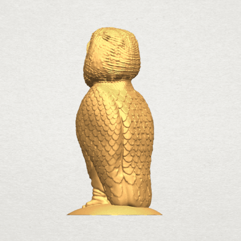 TDA0594 Owl 03 A04.png Download free STL file Owl 03 • 3D printing object, GeorgesNikkei