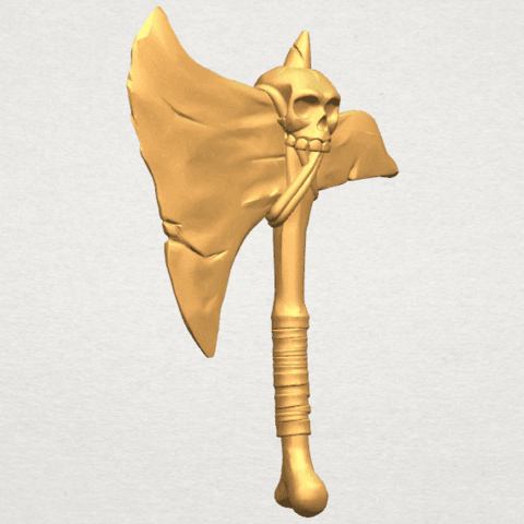 TDA0541 Pirate Axe A07.png Download free STL file Pirate Axe • 3D printer template, GeorgesNikkei