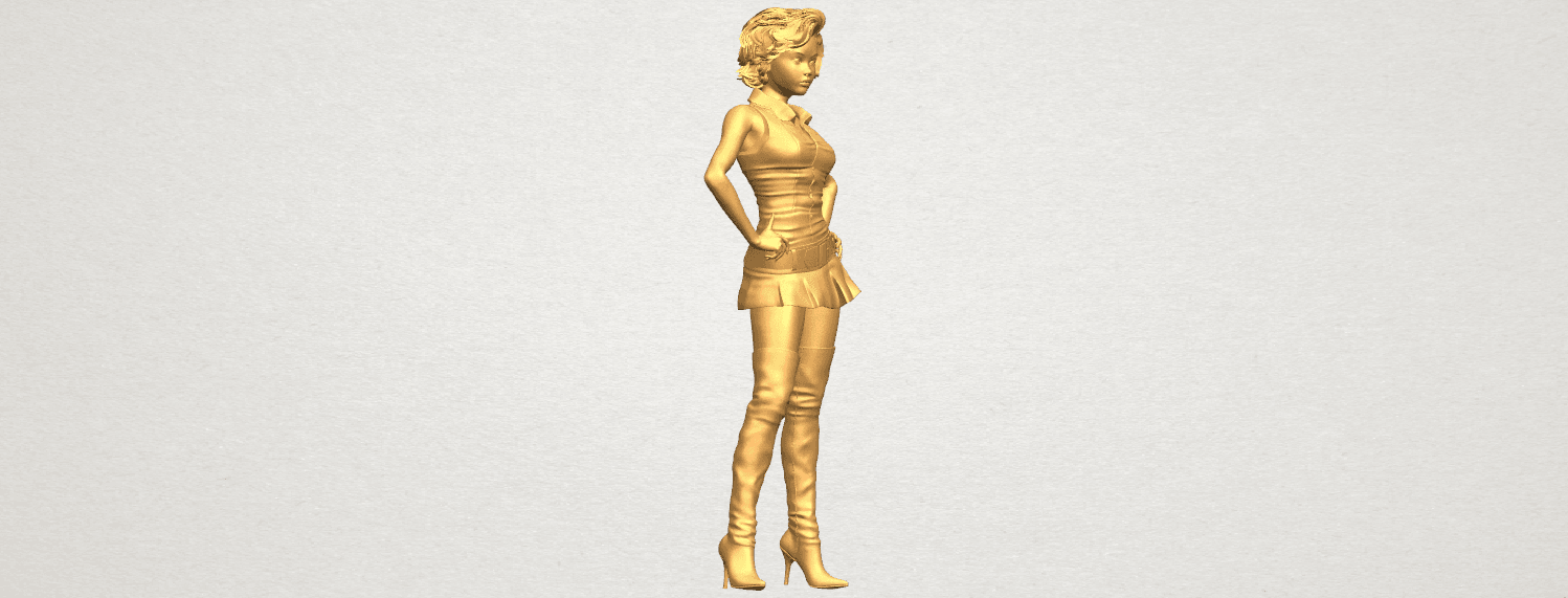 TDA0473 Beautiful Girl 07 A08.png Télécharger fichier STL gratuit Belle Fille 07 • Design à imprimer en 3D, GeorgesNikkei
