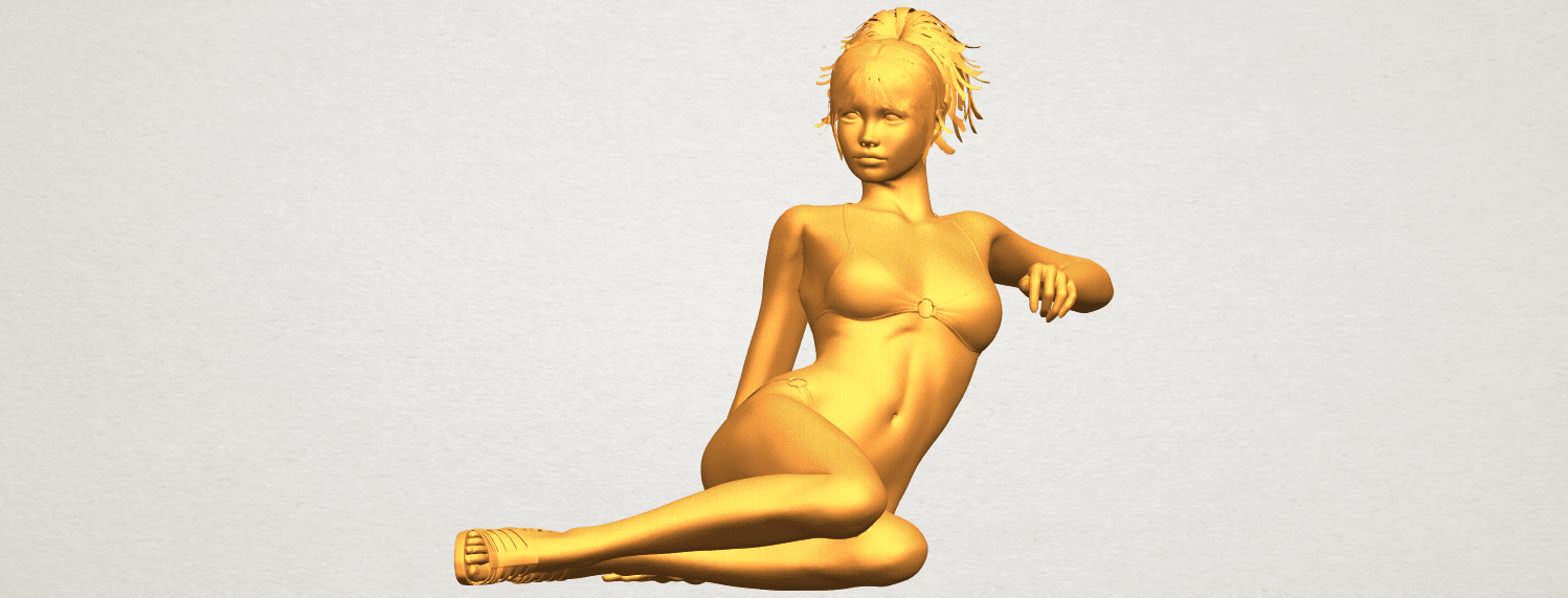A01.png Download free STL file Naked Girl F02 • 3D printable template, GeorgesNikkei