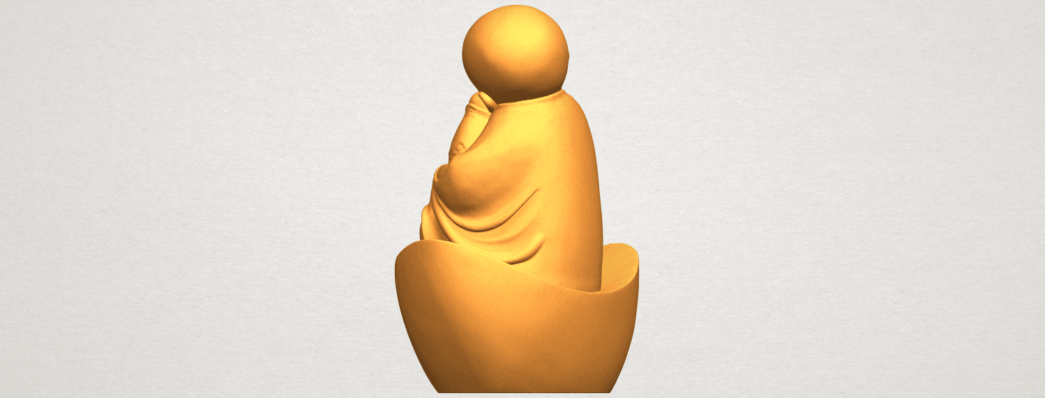 A05.png Download free STL file Little Monk 04 • 3D printer template, GeorgesNikkei
