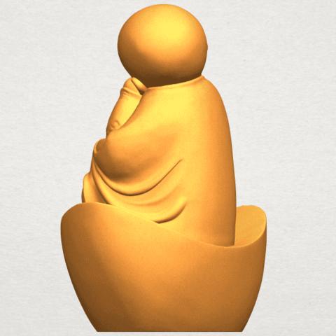 A05.png Télécharger fichier STL gratuit Petit Moine 04 • Modèle imprimable en 3D, GeorgesNikkei