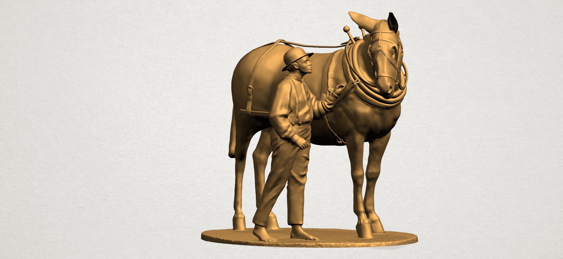 Horse with Man (i) - B01.png Télécharger fichier STL gratuit Cheval avec Man 01 • Objet à imprimer en 3D, GeorgesNikkei