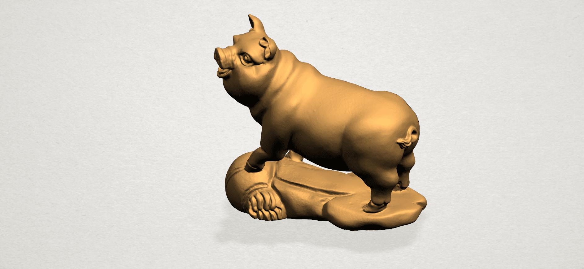 Chinese Horoscope12-A02.png Download free STL file Chinese Horoscope 12 pig • Model to 3D print, GeorgesNikkei