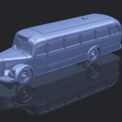 stl files Mercedes Benz O6600 Bus 1950, Miketon