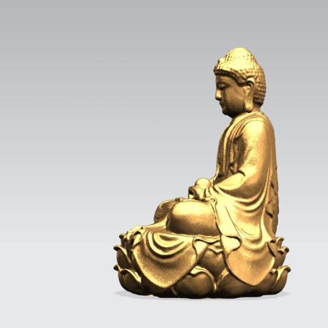 Gautama Buddha -B02.png Télécharger fichier STL gratuit Gautama Bouddha 01 • Plan pour impression 3D, GeorgesNikkei