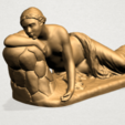 Naked Girl - Lying on Side - A11.png Download free STL file Naked Girl - Lying on Side • 3D printer template, GeorgesNikkei