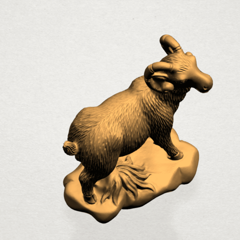 Chinese Horoscope08-A06.png Download free STL file Chinese Horoscope 08 Goat • Model to 3D print, GeorgesNikkei