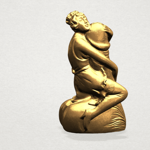 Alice hugging Dick - C04.png Download free STL file Alice hugging Dick • 3D printer design, GeorgesNikkei