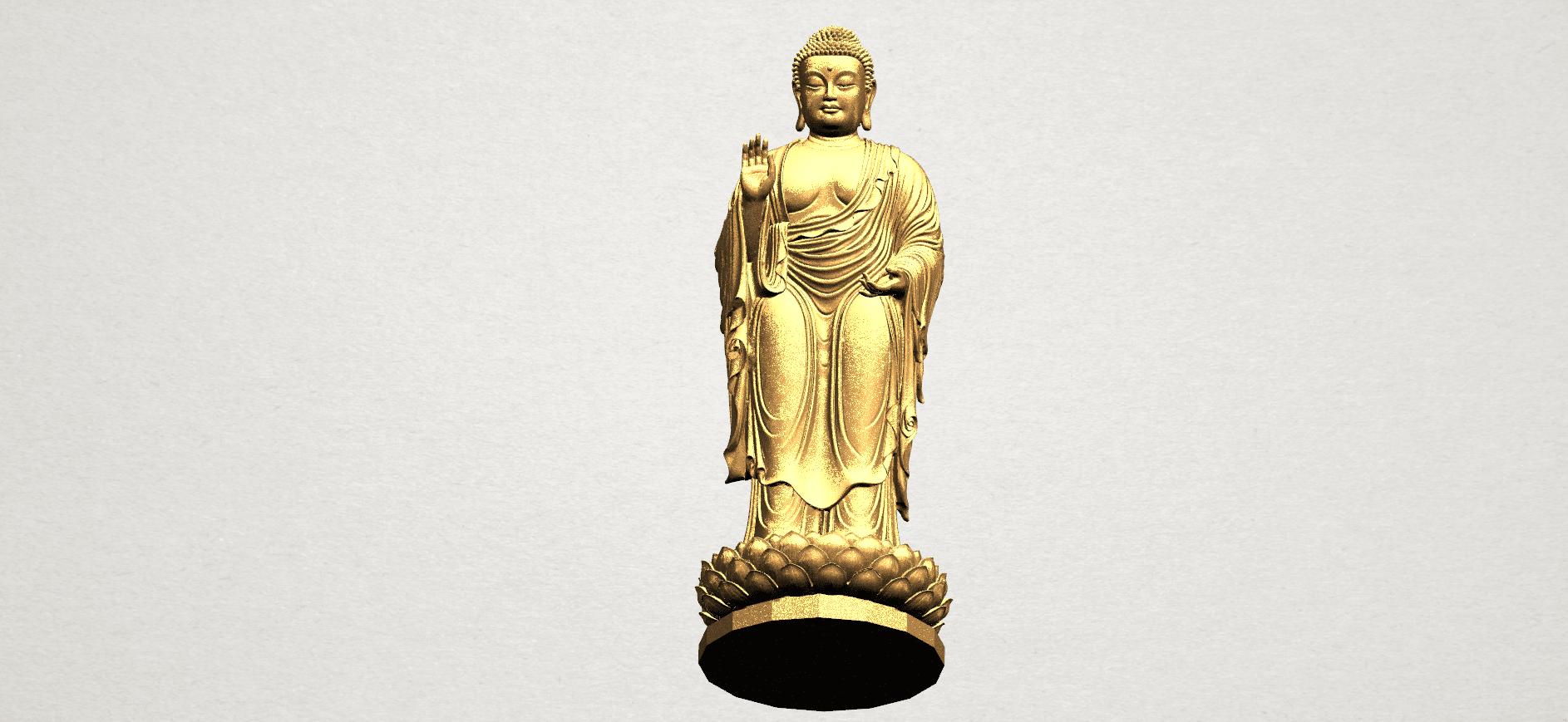 Gautama Buddha Standing (ii) A09.png Download free STL file Gautama Buddha Standing 02 • 3D printer design, GeorgesNikkei