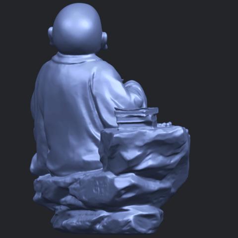 17_TDA0558_Little_Monk_Drink_TeaB08.png Télécharger fichier STL gratuit Boire du thé Little Monk Drink Tea • Design à imprimer en 3D, GeorgesNikkei