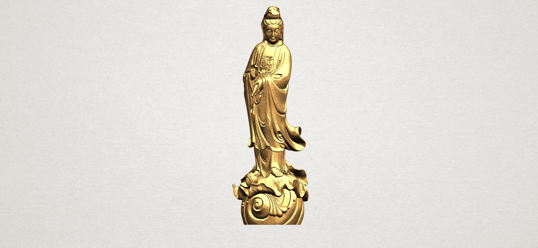 Avalokitesvara Buddha - Standing (i) A01.png Download free STL file Avalokitesvara Bodhisattva - Standing 01 • 3D printable design, GeorgesNikkei
