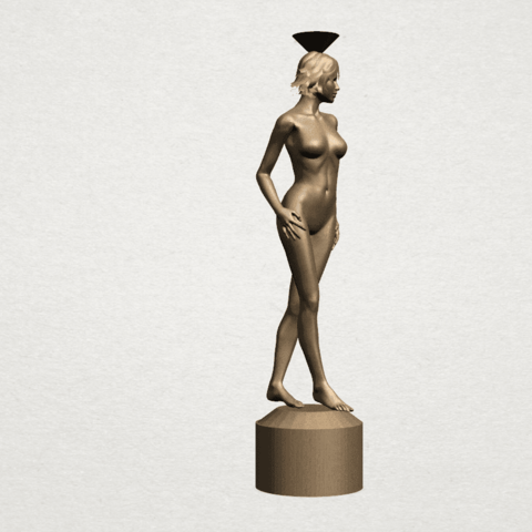 Naked girl-vase-B07.png Download free STL file Naked Girl with Vase on Top (i) • 3D print template, GeorgesNikkei