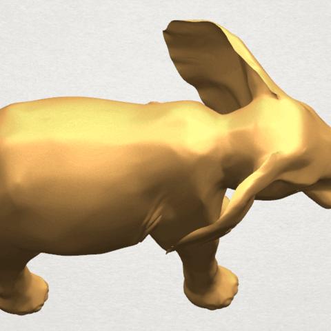TDA0592 Elephant 07 A10.png Télécharger fichier STL gratuit Eléphant 07 • Objet à imprimer en 3D, GeorgesNikkei