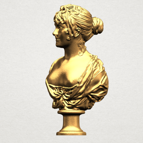 Bust of a girl 01 A02.png Download free STL file Bust of a girl 01 • Object to 3D print, GeorgesNikkei