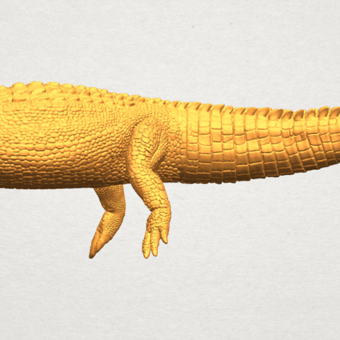 A06.png Download free STL file Alligator 01 • 3D printer object, GeorgesNikkei