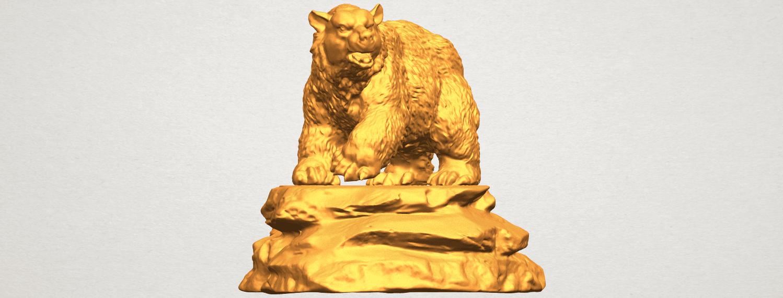 A09.png Télécharger fichier STL gratuit Ours 01 • Plan imprimable en 3D, GeorgesNikkei