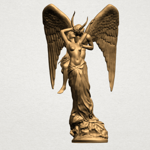 Angel and devil - B02.png Download free 3DS file Angel and devil • 3D print template, GeorgesNikkei