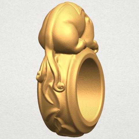 TDA0504 Pi Xiu Ring A03.png Download free STL file Pi Xiu Ring • Object to 3D print, GeorgesNikkei