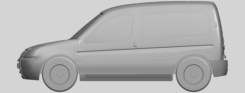08_TDB002_1-50A01.png Download free STL file Citroen Berlingo Belgium Post • Design to 3D print, GeorgesNikkei