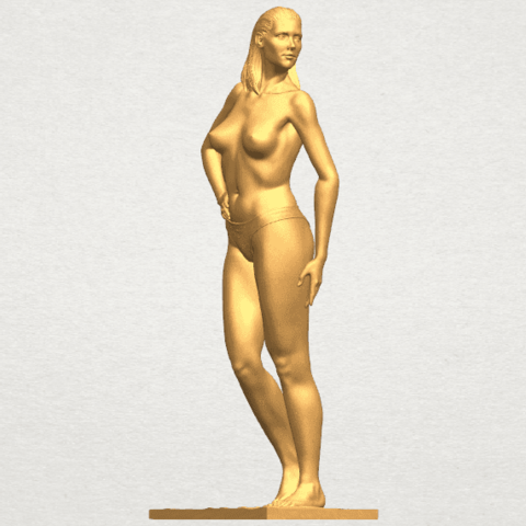 TDA0465 Naked Girl 19 A02.png Download free STL file Naked Girl 19 • 3D printer template, GeorgesNikkei